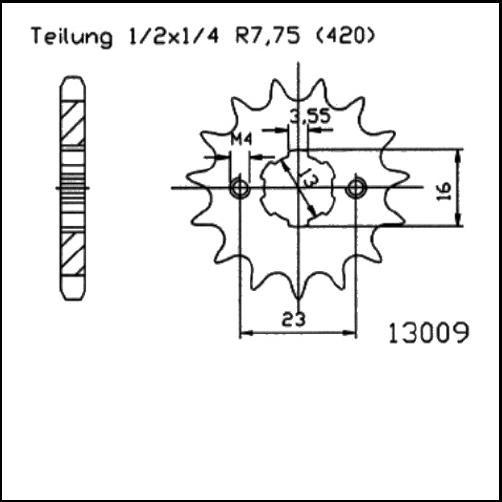 Kettenritzel 13Z - (420)