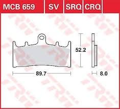 MCB659, mcb 659: Lucas Vorderrad Standard-Bremsbelag (Carbon-Keramik)