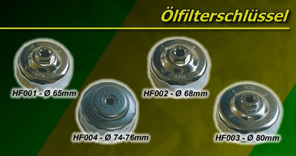 Ölfilterschlüssel HF005 (76mm) 12 Kant HF164