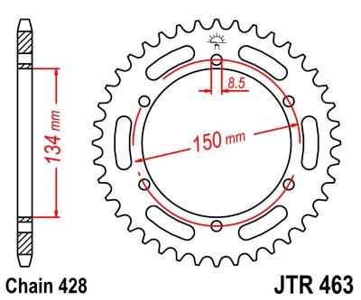 Kettenrad Stahl CNC 46 48 50 Zähne - (428) Kawasaki KMX 125 / 200