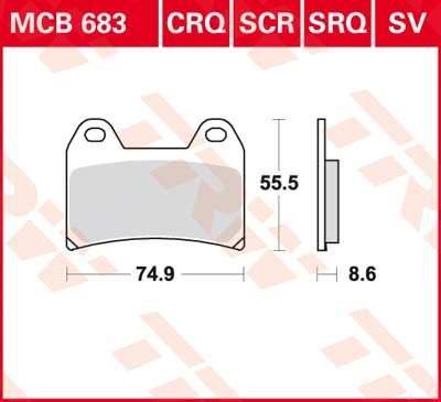 MCB683, mcb 683: Lucas Vorderrad Standard-Bremsbelag (Carbon-Keramik)