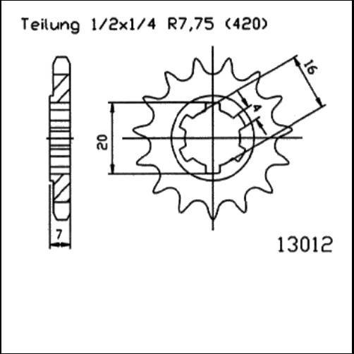 Kettenritzel 12Z - (420)