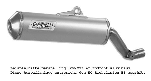 Giannelli On-Off 4T - Endtopf ALU Honda XL 650V Transalp (Bj.00-05)