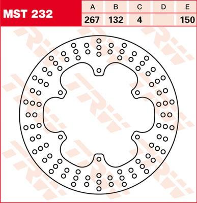 TRW Lucas Bremsscheibe MST 232 / MST232