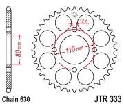 Kettenrad Stahl 38 41 43 Zähne - (630) Honda 750 CB