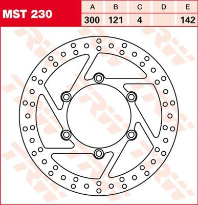 TRW Lucas Bremsscheibe MST 230 / MST230