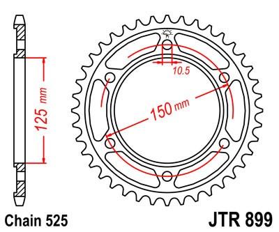 DID Kette 525ZVMXgold für KTM ADVENTURE1190  Baujahr 13-14