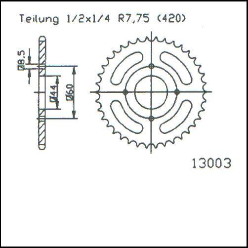 Kettenrad 52Z - (420)