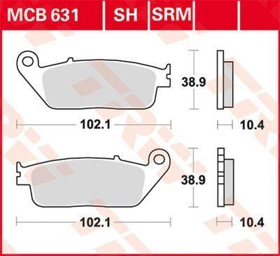 MCB631, mcb 631: Lucas Hinterrrad Standard-Bremsbelag (Carbon-Keramik)