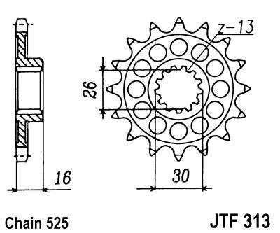 Kettenritzel 14Z - 17Z (525)