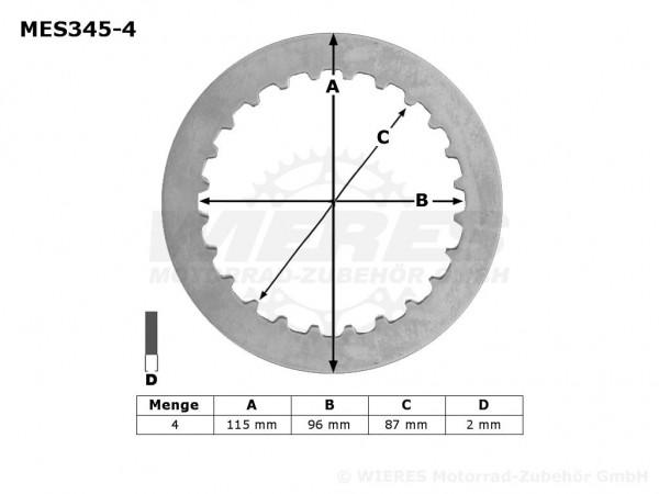TRW Lucas Kupplungszwischenscheiben Kit (4st.) Suzuki MES345-4 / MES 345-4