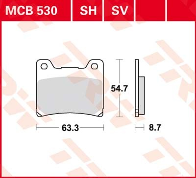 MCB530SH, mcb 530 sh: Lucas Hinterrrad Sinterbelag