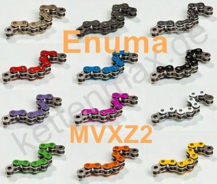 Kette ENUMA 525 MVXZ2 / 525MVXZ2 Quadra-X-Ring 106 Glieder alle Farben