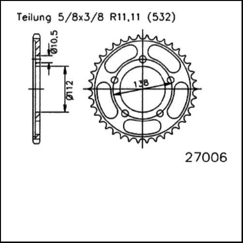 Kettenrad 48Z - (532)