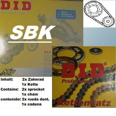 Superbike-Kettensatz mit DID !520! ZVM-X X-Ring-Kette (G&G): Yamaha YZF 600 Thundercat (Bj.96-03