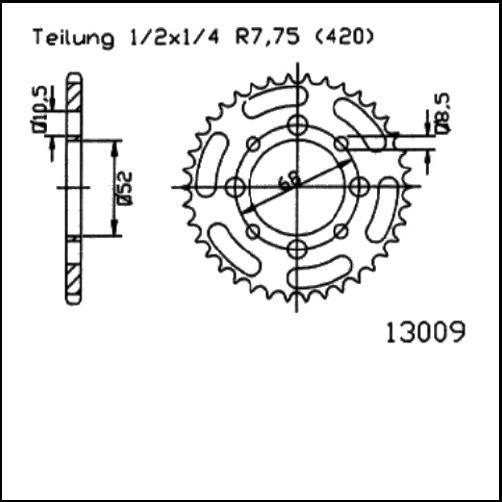 Kettenrad 41Z - (420)