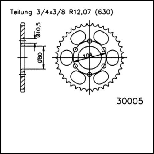 Kettenrad 34Z - (630)