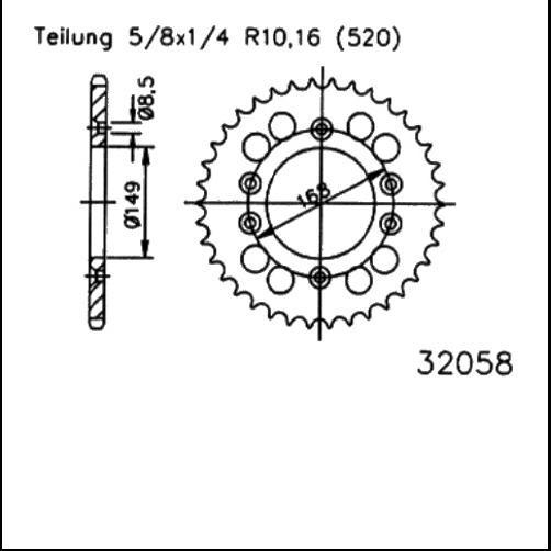 Kettenrad 42Z - (520)