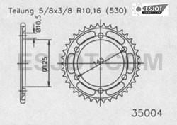 Kettenrad 39Z - (530)
