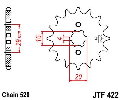 Kettenritzel 12 13 14 15 Zähne - (520)