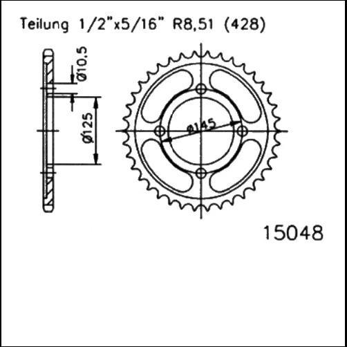 Kettenrad 59Z - (428)