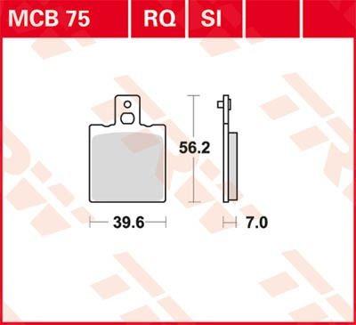 MCB75LF: Lucas-TRW/SBS Hinterrrad Standardbelag (Carbon-Keramik)