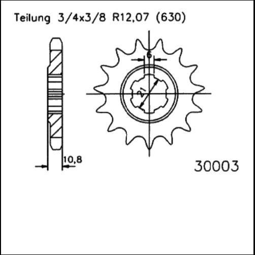 Kettenritzel 14Z - (630)