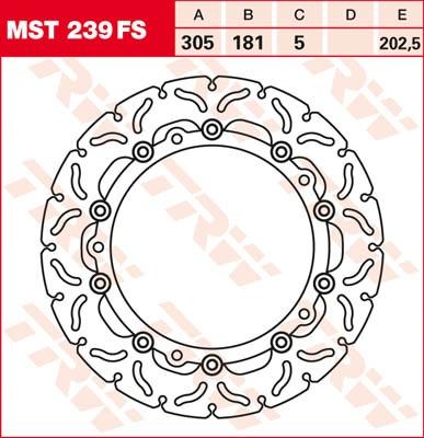 TRW Lucas Bremsscheibe MST 239 FS / MST239FS