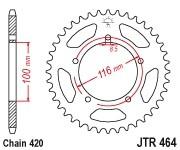 Kettenrad Stahl 42 bis 54 Zähne (420) Kawasaki KX60 / RM60 / KX80 83-85 / KDX80