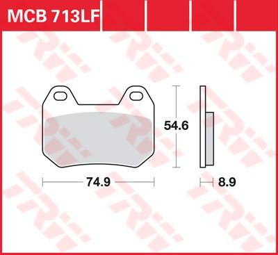 MCB713, mcb 713: Lucas Scheibenbremsbeläge hinten MCB713, mcb 713