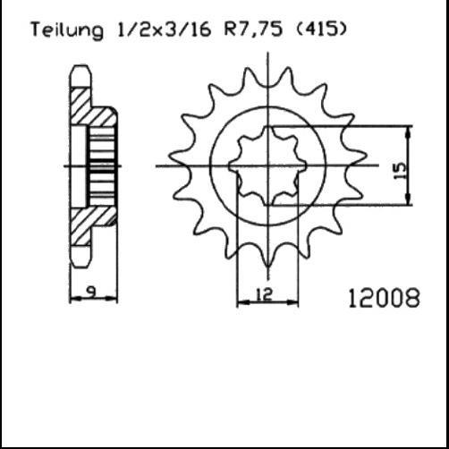 Kettenritzel 11Z - (415)