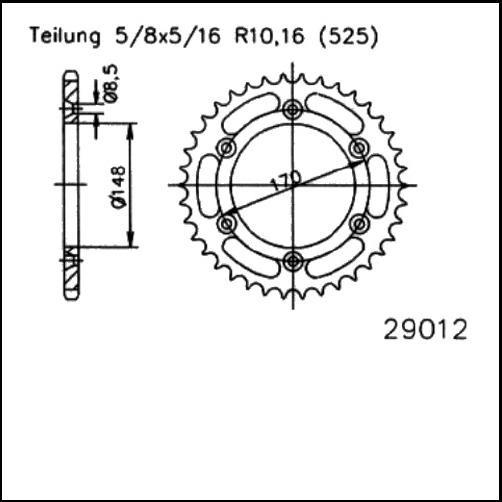 Kettenrad 47Z - (525)