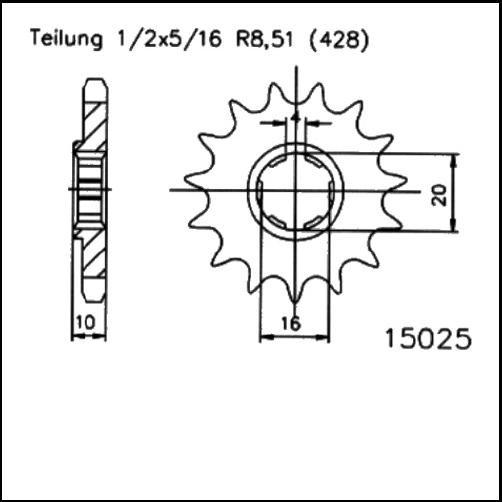 Kettenritzel 13Z - (428)
