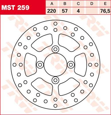 TRW Lucas Bremsscheibe MST 259 / MST259