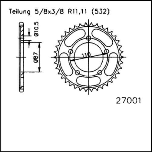 Kettenrad 46Z - (532)