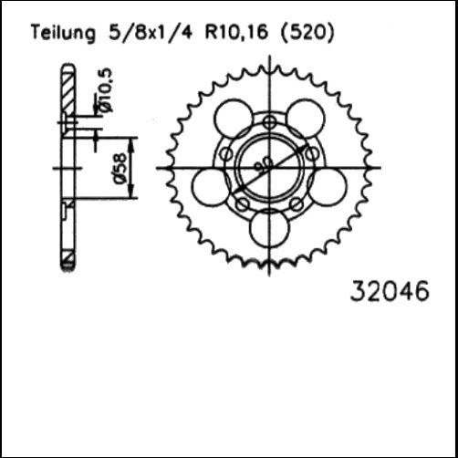 Kettenrad 38Z - (520)