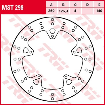 TRW Lucas Bremsscheibe MST 298 / MST298