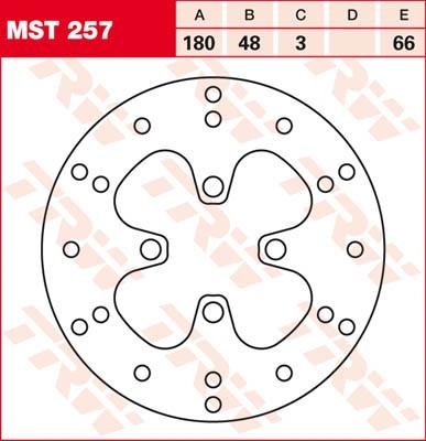 TRW Lucas Bremsscheibe MST 257 / MST257