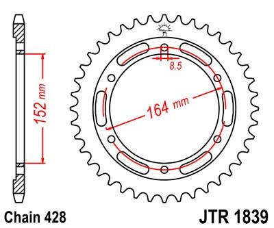 Kettenrad Stahl CNC 55 56 Zähne - (428)