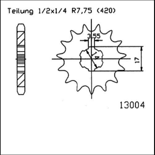Kettenritzel 15Z - (420)