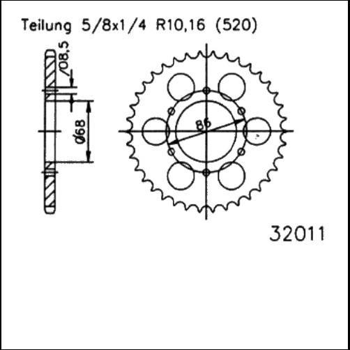 Kettenrad 40Z - (520)