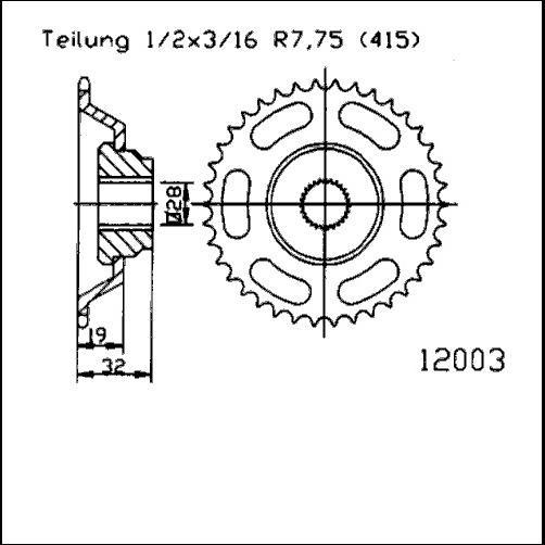 Kettenrad 43Z - (415)