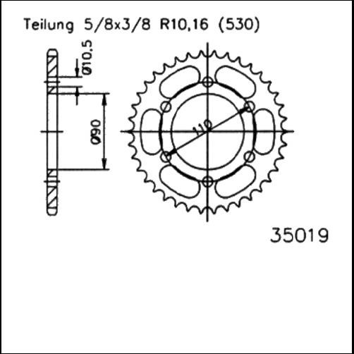 Kettenrad 31,32,33,34Z - (530)