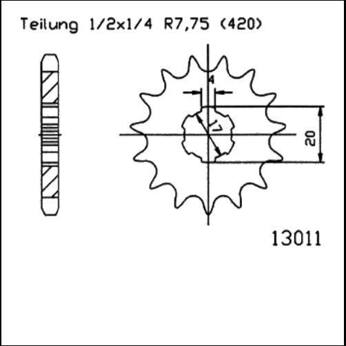 Kettenritzel 14Z - (420)