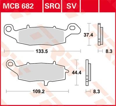MCB682SV, mcb 682 sv: Lucas Vorderrad Sinterbelag links
