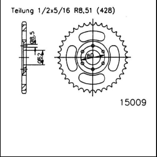 Kettenrad 50Z - (428)