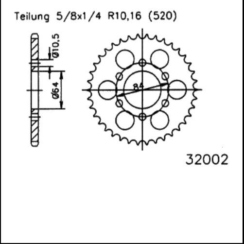 Kettenrad 47Z - (520)