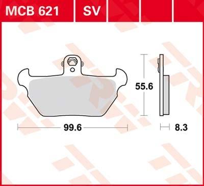 MCB621, mcb 621: Lucas Scheibenbremsbeläge vorn MCB621, mcb 621