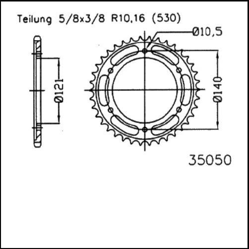 Kettenrad 40Z - (530)
